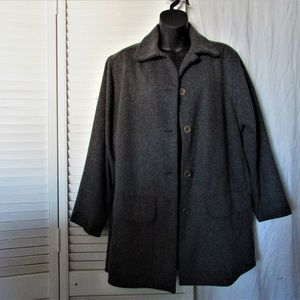 Max Studio charcoal gray wool pea coat size 2